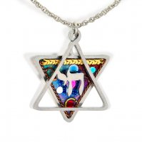 Chai Star of David Necklace, by Seeka