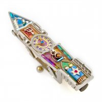 Clock Tower Mezuzah, by Seeka