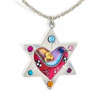 Dove Heart Star of David Necklace, by Seeka
