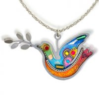 Dove of Peace Necklace- Orange, by Seeka
