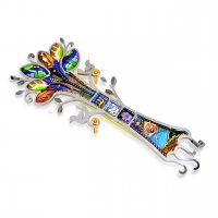 Happy Sacred Tree of Life Mezuzah, by Seeka
