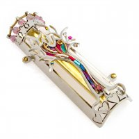 Hearts and Stars of David Tree of Life Mezuzah, by Seeka