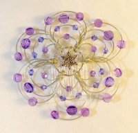 Shades of Purple Light Beaded Wire Kippah