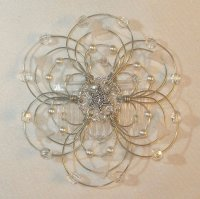Snow Lilies Light Beaded Wire Kippah