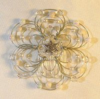 Snowflake Light Beaded Wire Kippah