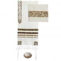 Star of David in Browns Tallit Set, by Yair Emanuel