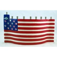 America the Beautiful Menorah, by Tamara Baskin