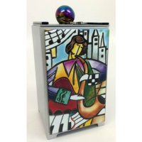 Artful Music Tzedakah Box, by Tamara Baskin