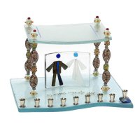 Beads of Life Chupah Menorah, by Tamara Baskin