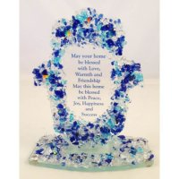 Blue Rock Hamsa Home Blessing-Free Standing, by Tamara Baskin
