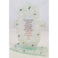Clear Rock Hamsa Home Blessing-Free Standing, by Tamara Baskin