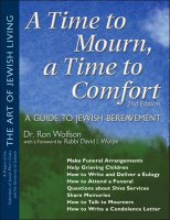 A Time to Mourn, A Time to Comfort, by Dr. Ron Wolfson