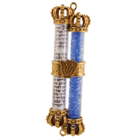 Wedding Glass Mezuzah-Gold, by Quest