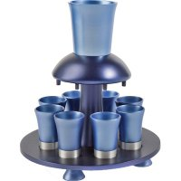 Anodize Aluminum Kiddush Fountain Blue Tones, by Yair Emanuel