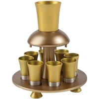 Anodize Aluminum Kiddush Fountain Gold Tones, by Yair Emanuel