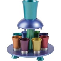 Anodize Aluminum Kiddush Fountain Jewel Tones, by Yair Emanuel