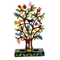 Tree of Life Laser Cut Shabbat Candlesticks by Yair Emanuel