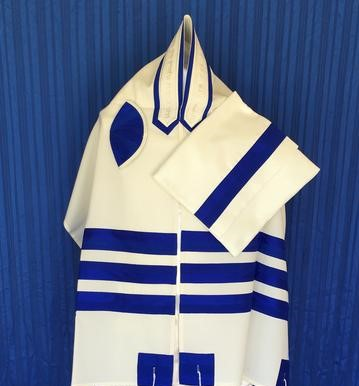 Classic Royal Tallit Set - Click Image to Close