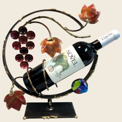 Grapes Wine Holder, by Gary Rosenthal