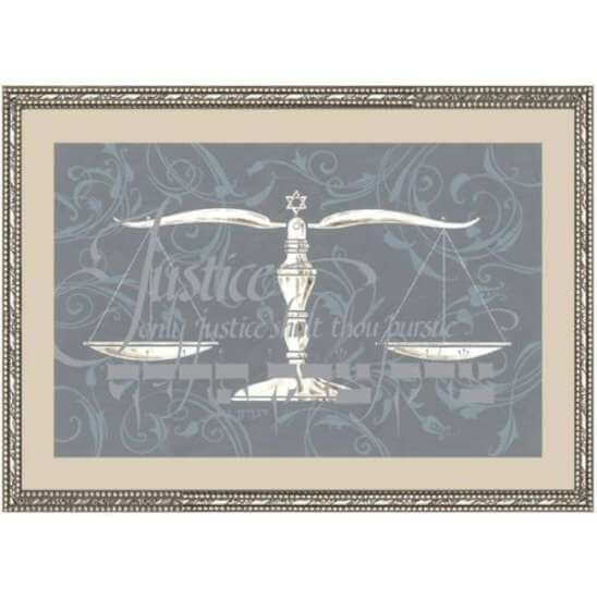 Lawyers Creed Framed Art, Silver, by Mickie Caspi - Click Image to Close