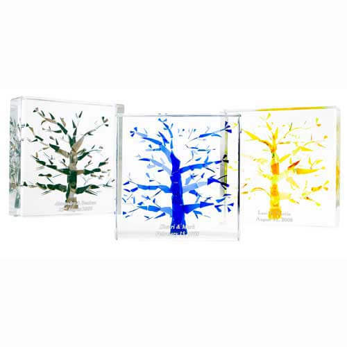 Broken Wedding Glass Lucite Tree of Life - Click Image to Close