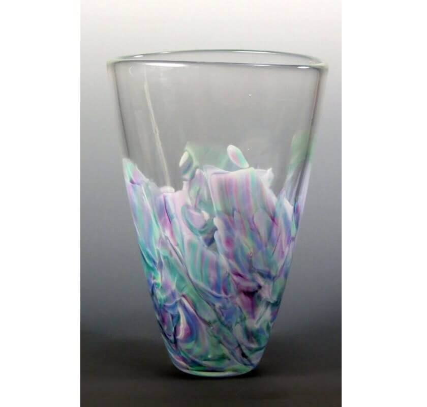 Oval Vase made of your Broken Glass, by Mark Rosenbaum - Click Image to Close