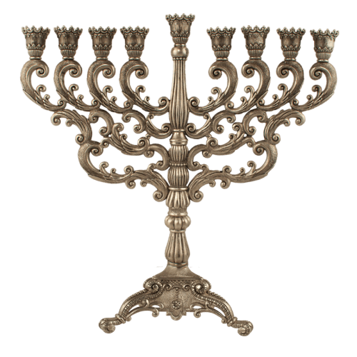 Antique Menorah, by Quest - Click Image to Close