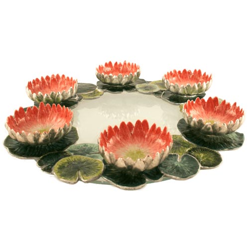 Lotus Seder Plate, by Quest - Click Image to Close