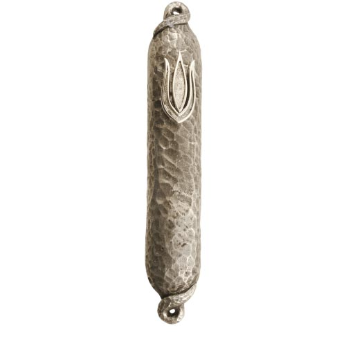 Hammered Silver Mezuzah, by Quest - Click Image to Close